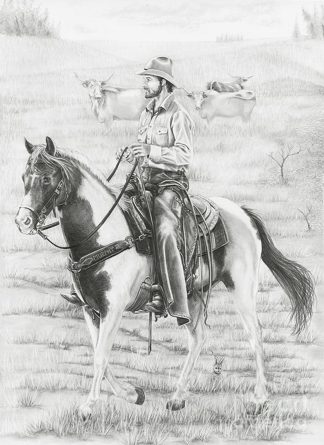 Cowboy sketch drawings - photo#23