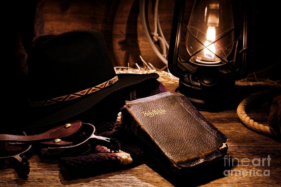 Cowboy Bible Photograph