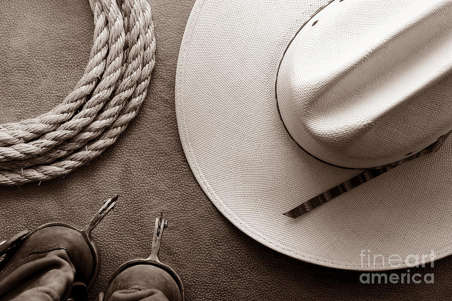 Cowboy Hat And Boots Background Cowboy Hat And Boots With Rope