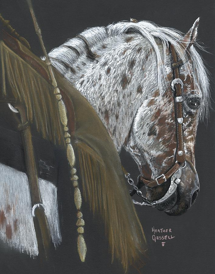 Appaloosa Horse Pastel - Cowboy by Heather Gessell