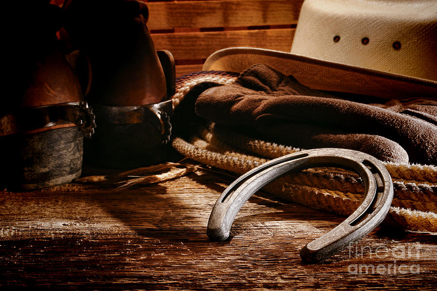 Cowboy Horseshoe Photograph