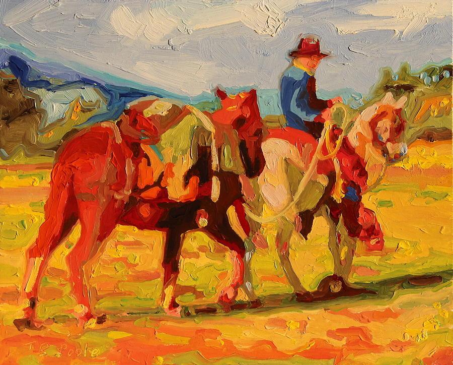 Cowboy Art Cowboy Leading Pack Horse Painting Bertram ...