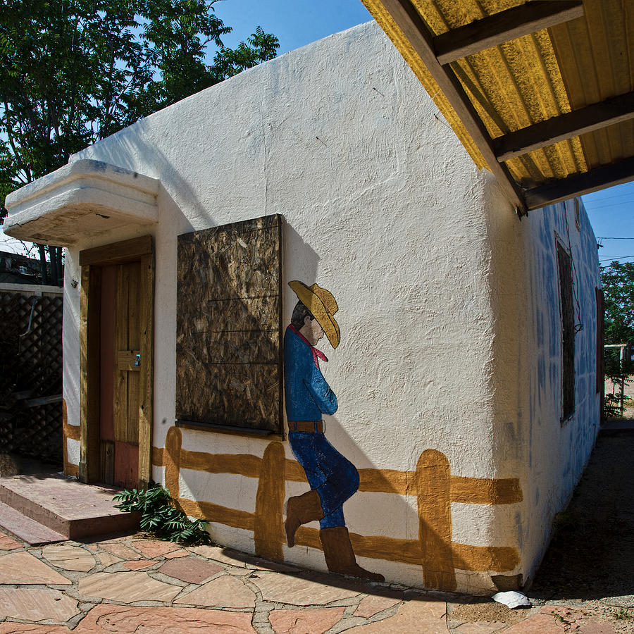 Cowboy Mural In Benson Arizona Photograph