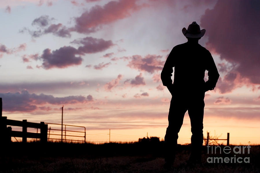 Cowboy Sunset Photograph  - Cowboy Sunset Fine Art Print