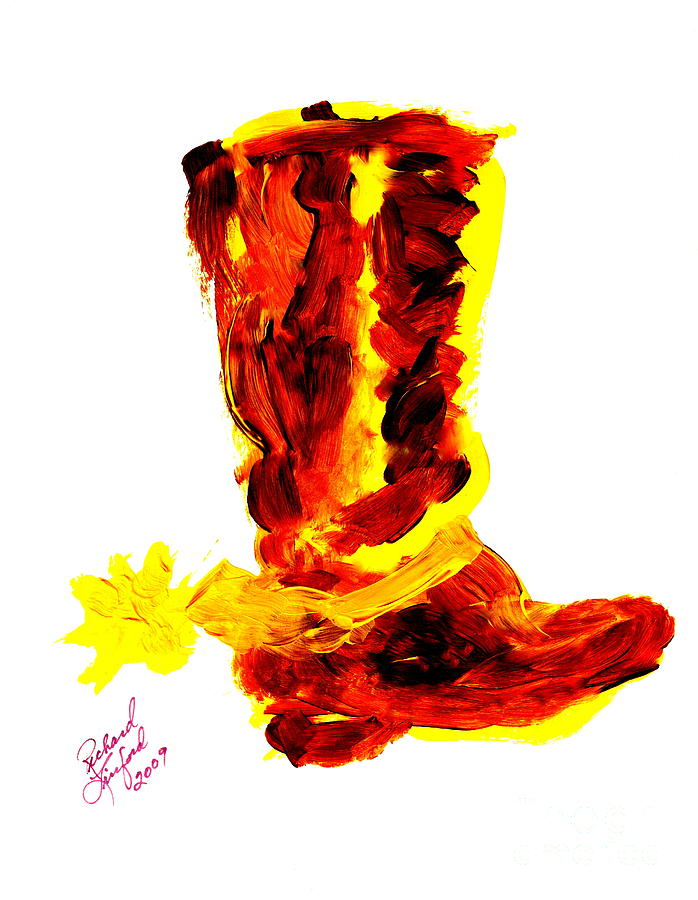 Cowboy Tithing Boot And Spur 5 Painting  - Cowboy Tithing Boot And Spur 5 Fine Art Print