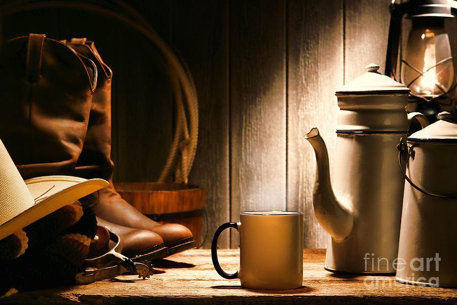 Cowboys Coffee Break Photograph  - Cowboys Coffee Break Fine Art Print