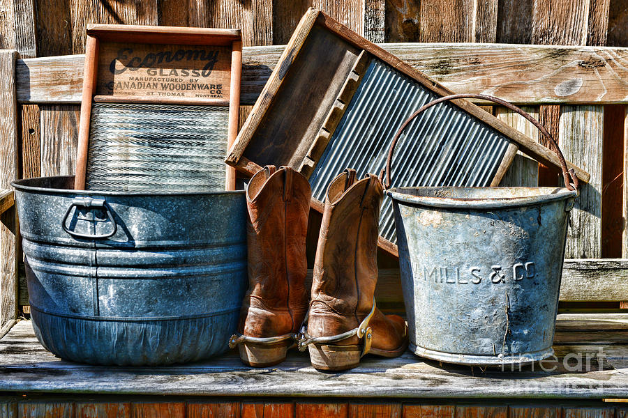 Cowboys Have Laundry Too Photograph  - Cowboys Have Laundry Too Fine Art Print