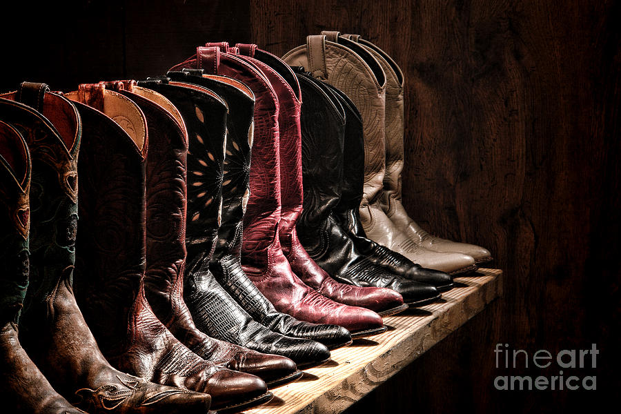 Cowgirl Boots Collection Photograph  - Cowgirl Boots Collection Fine Art Print