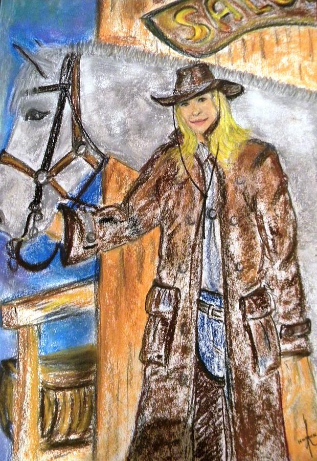 Horse Pastel - Cowgirl by Igor Kotnik