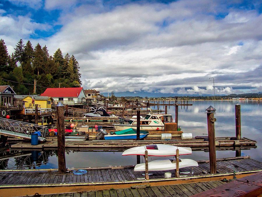 Cowichan Bay Photograph - Cowichan Bay Vancouver Island by Lynn Bolt