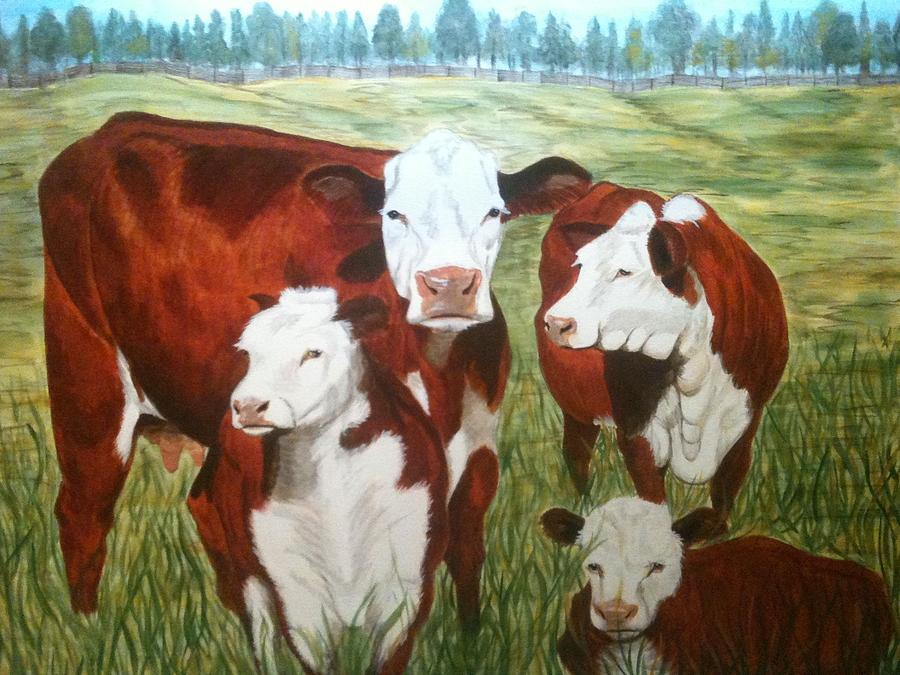 Cows Four Painting