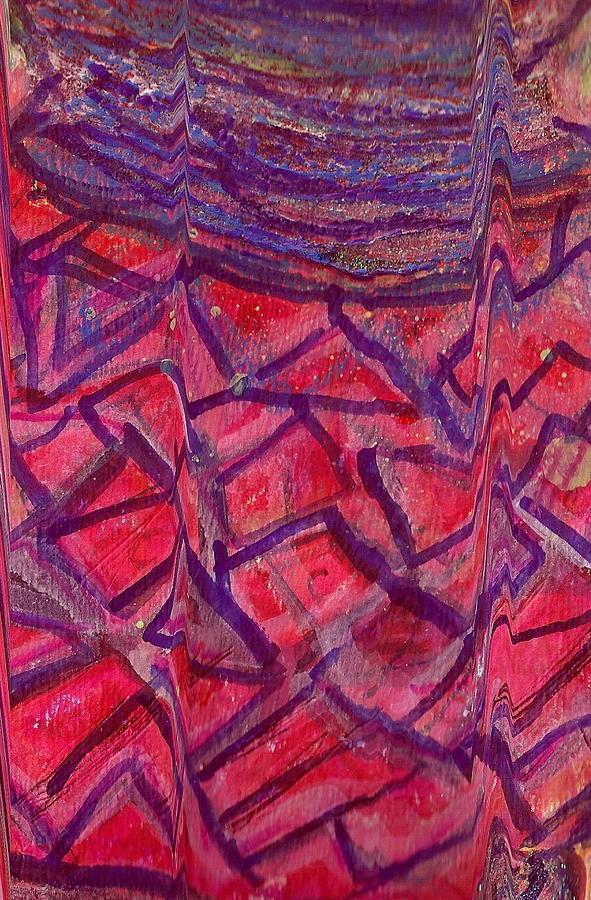 Jug Painting - Cracked Jug Close Up by Anne-Elizabeth Whiteway