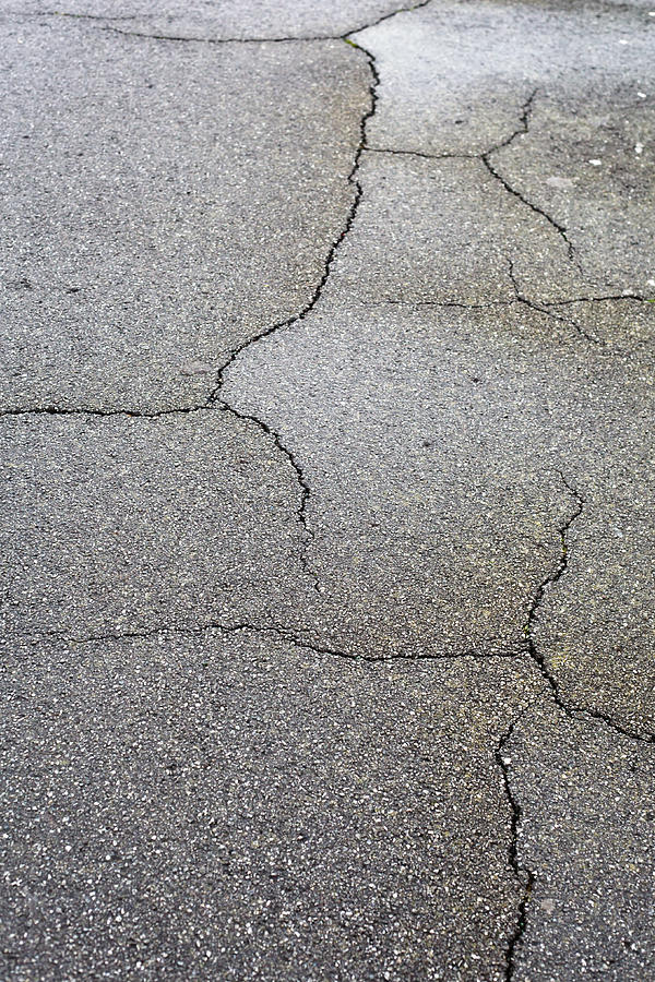 Cracked Tarmac Photograph  - Cracked Tarmac Fine Art Print