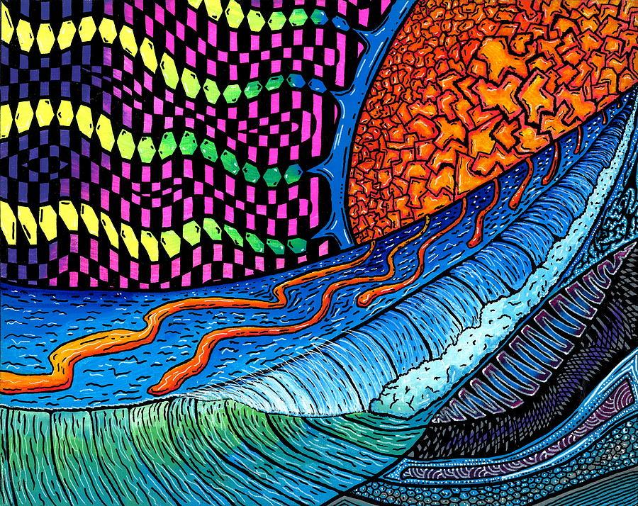 Crackle Sun Painting