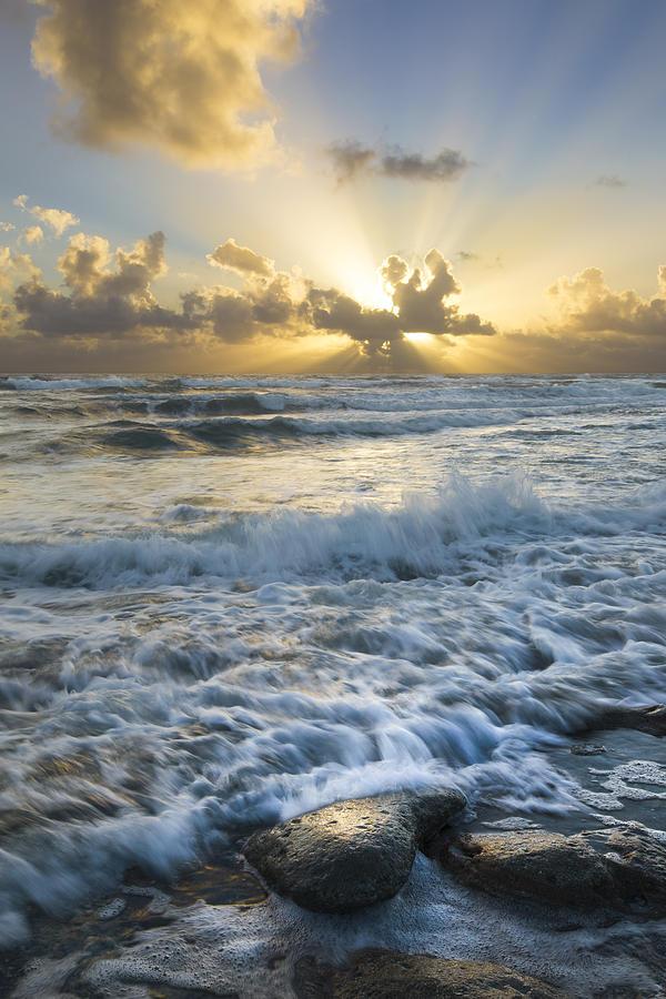 Atlantic Photograph - Crash by Debra and Dave Vanderlaan