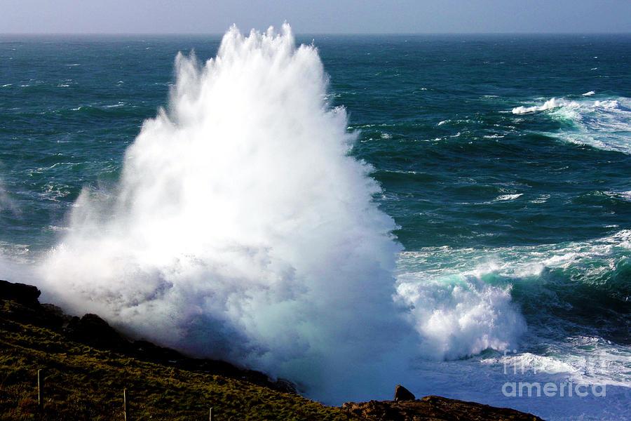 Cornwall Photograph - Crashing Wave by Terri Waters