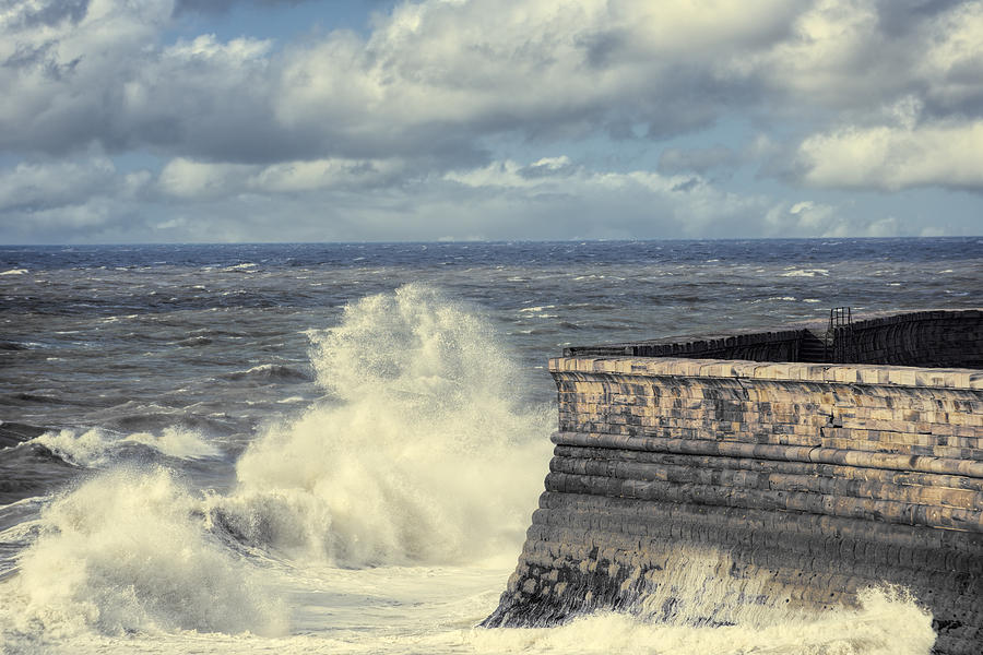 Whitehaven Photograph - Crashing Waves by Amanda Elwell