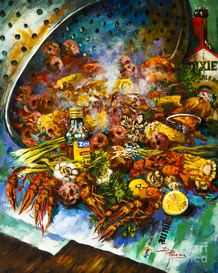 Crawfish Time is a painting by Dianne Parks which was uploaded on ...