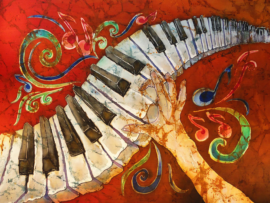 Crazy Fingers - Piano Keyboard  Painting  - Crazy Fingers - Piano Keyboard  Fine Art Print