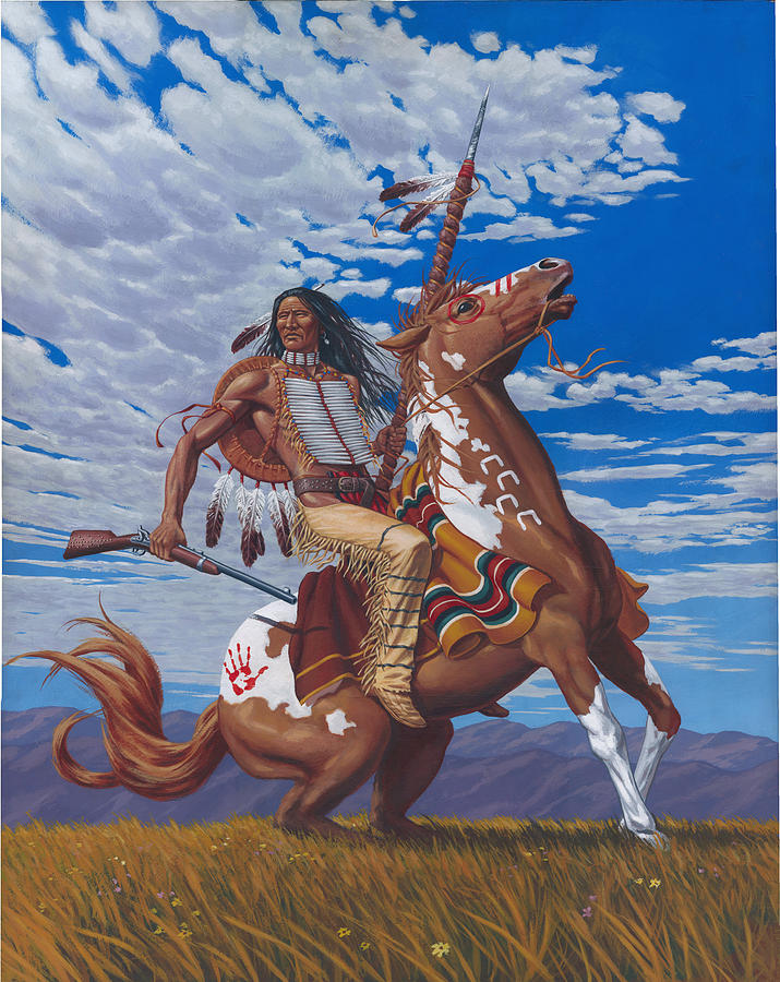 Crazy Horse Painting by Kevin Breyfogle
