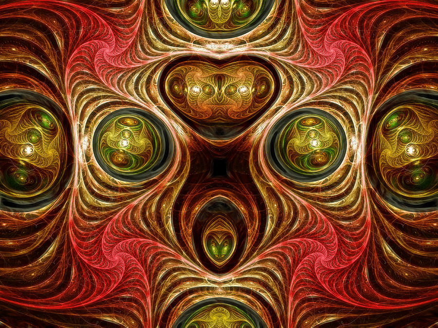 Crazy Modern Art Abstract Digital Art  - Crazy Modern Art Abstract Fine Art Print
