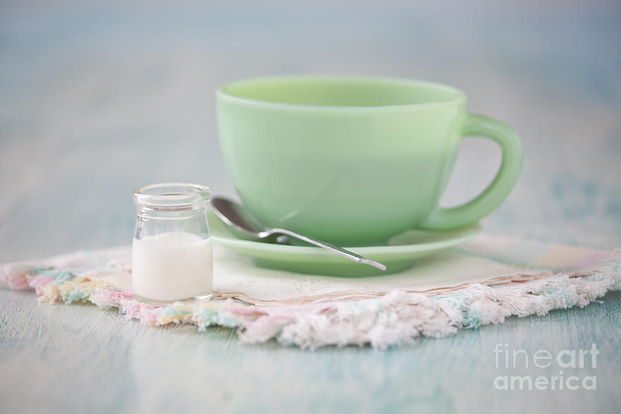 Cream And Coffee Photograph