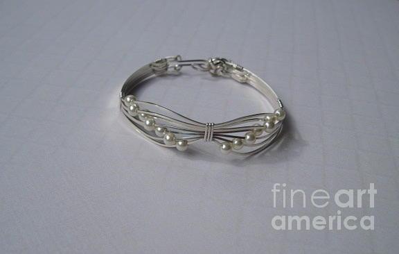 Cream Butterfly Bracelet In Sterling Jewelry