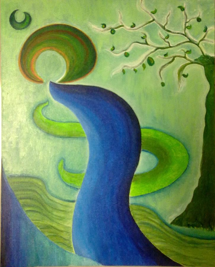 Creative abstract landscape painting by poornima ravi for Creative abstract painting