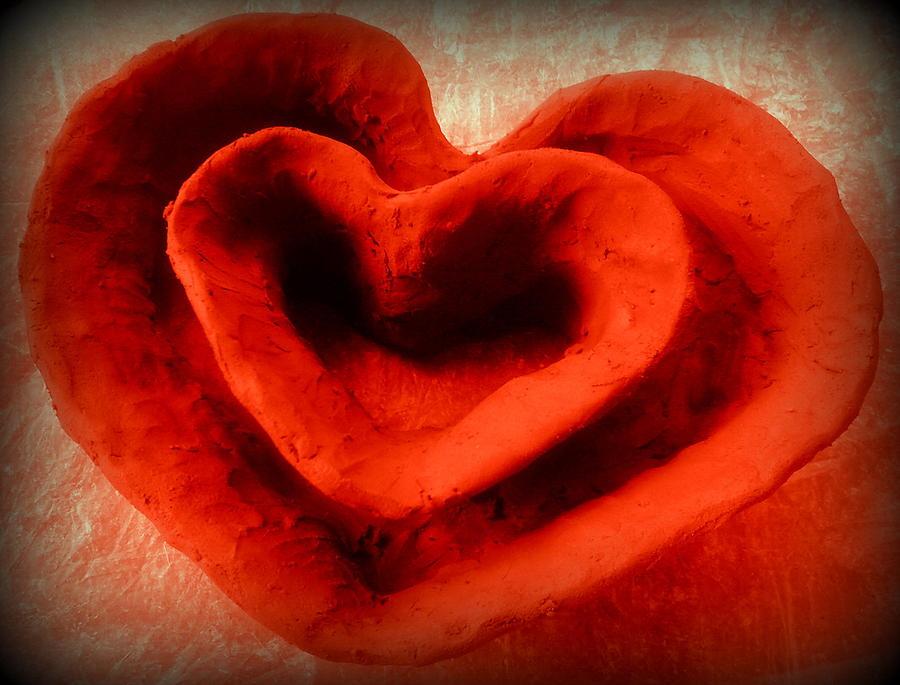 Creative Heart Ceramic Bowl Ceramic Art by Poornima Ravi