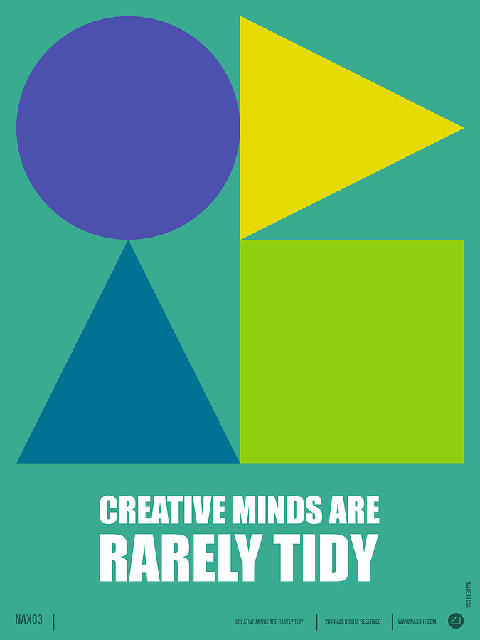 Quotes Digital Art - Creative Minds Poster by Naxart Studio