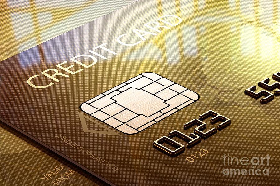 Credit Card Macro - 3d Graphic Photograph