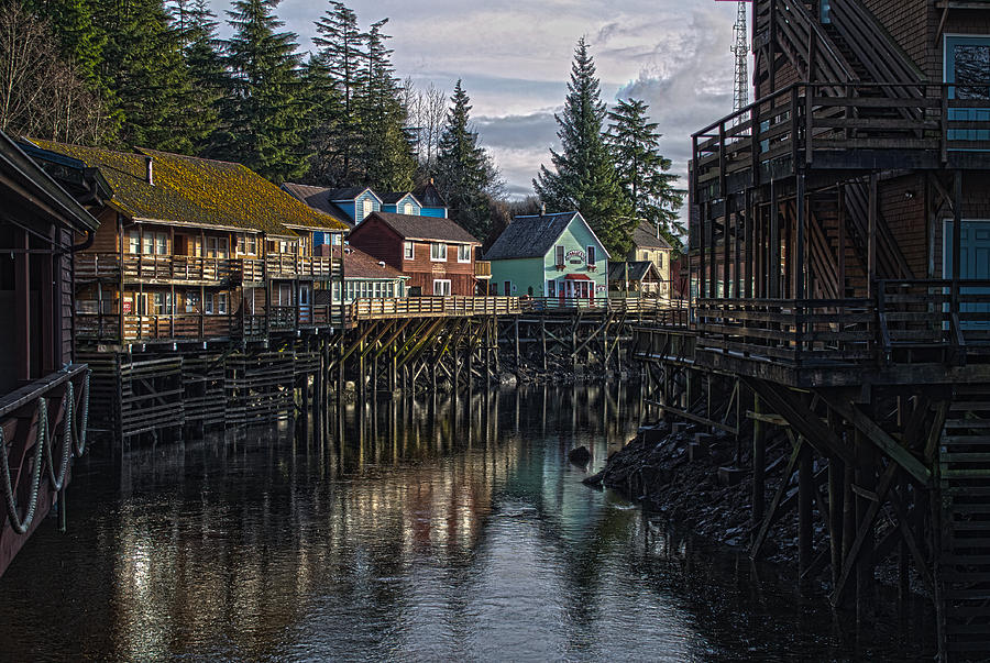 Creek St. Ketchikan Alaska Photograph  - Creek St. Ketchikan Alaska Fine Art Print