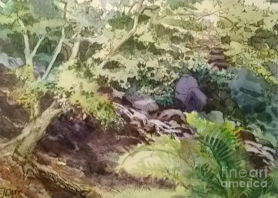 Garden Painting - Creekside Smith Gilbert Gardens by Elizabeth Carr