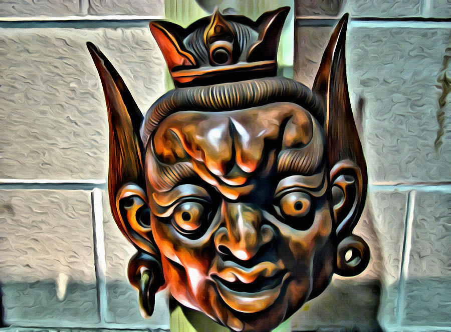 Mask Photograph - Creepy Mask Two by Alice Gipson