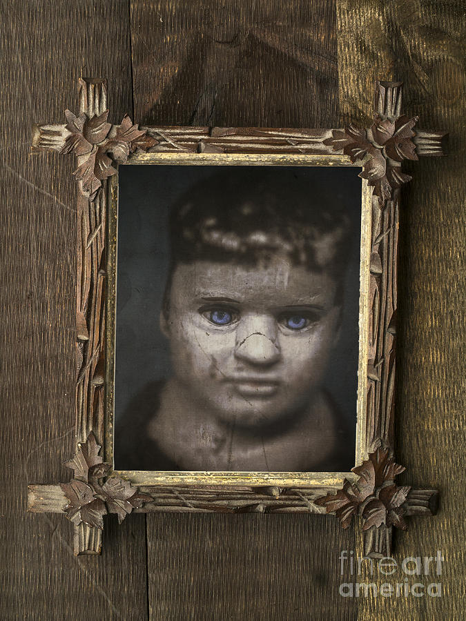 Child Photograph - Creepy Relative by Edward Fielding