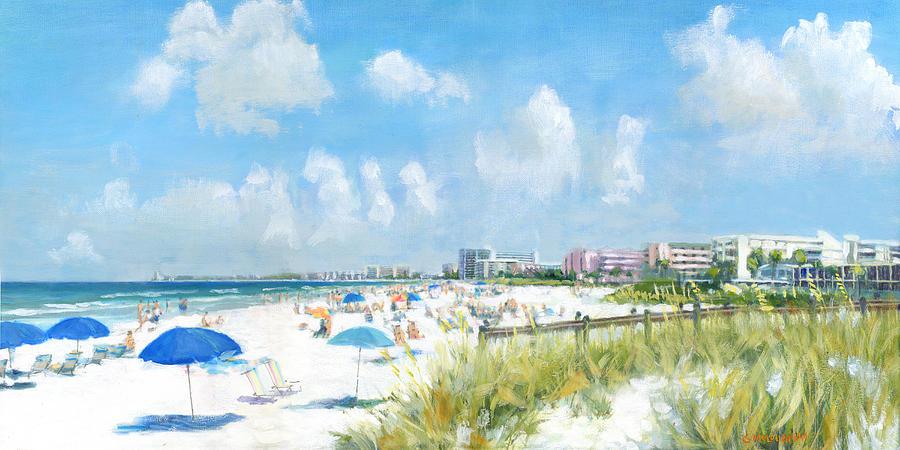 Crescent Beach On Siesta Key Painting