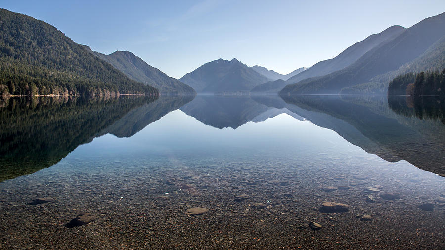Crescent Lake Reflection Photograph  - Crescent Lake Reflection Fine Art Print
