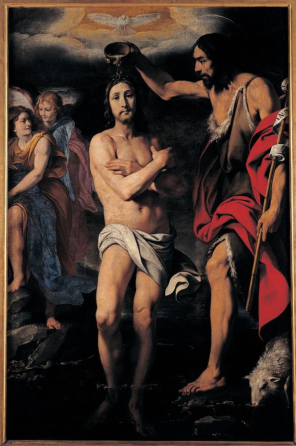 17th Century Photograph - Crespi Daniele, The Baptism Of Christ by Everett
