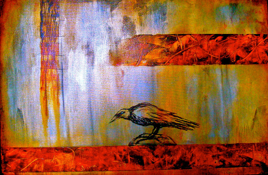 Raven Painting - Cria Cuervos by Thelma Zambrano