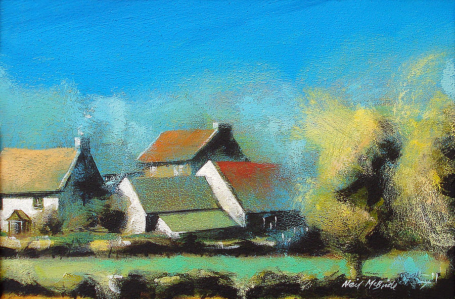Painted Painting - Crich Farm by Neil McBride