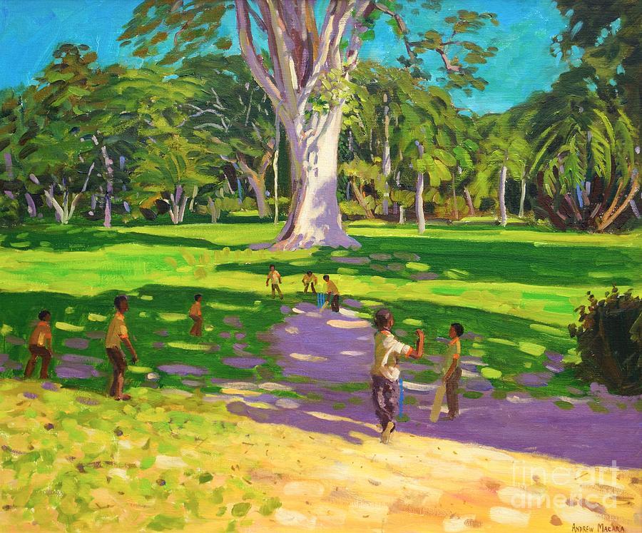 Cricket Match St George Granada Painting