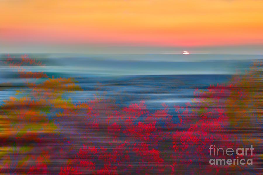 West Virginia Painting - Crimson Dawn - A Tranquil Moments Landscape by Dan Carmichael