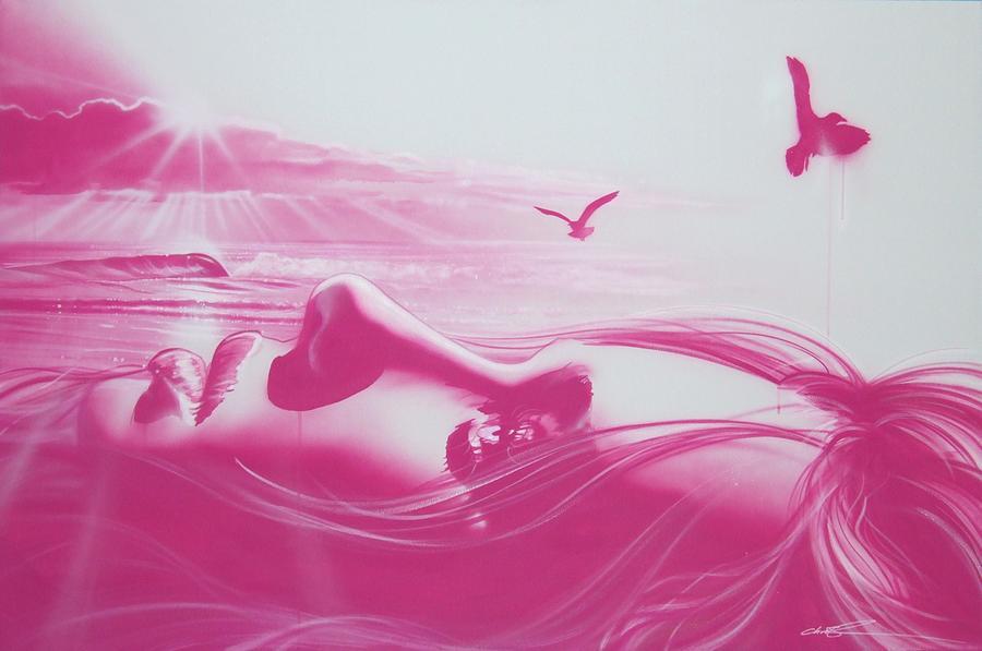 Women Paintings Painting - crimson Light by Christian Chapman Art