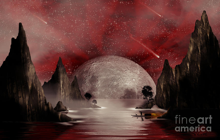 Crimson Night Digital Art  - Crimson Night Fine Art Print