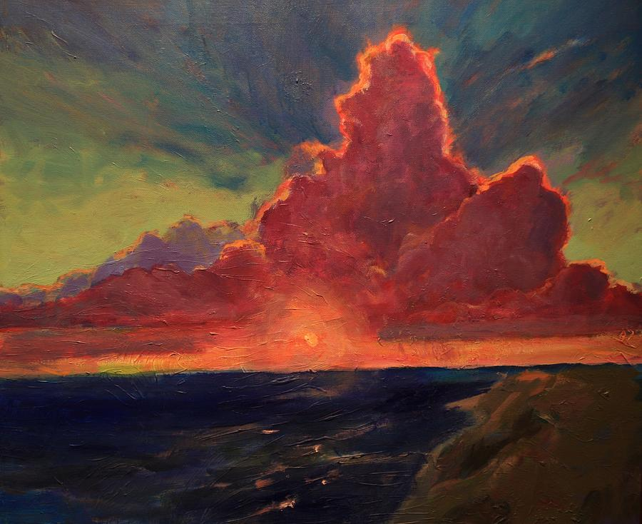 Crimson Sunset Painting