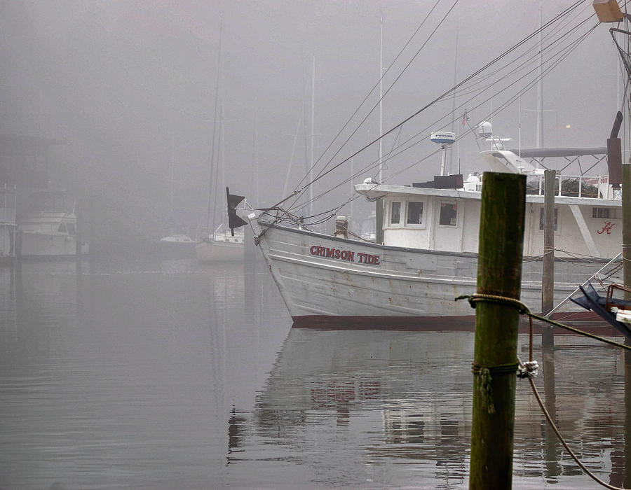 Crimson Tide In The Mist Digital Art  - Crimson Tide In The Mist Fine Art Print