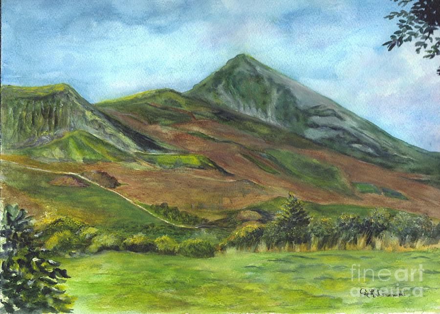 Croagh Saint Patricks Mountain In Ireland  Painting  - Croagh Saint Patricks Mountain In Ireland  Fine Art Print