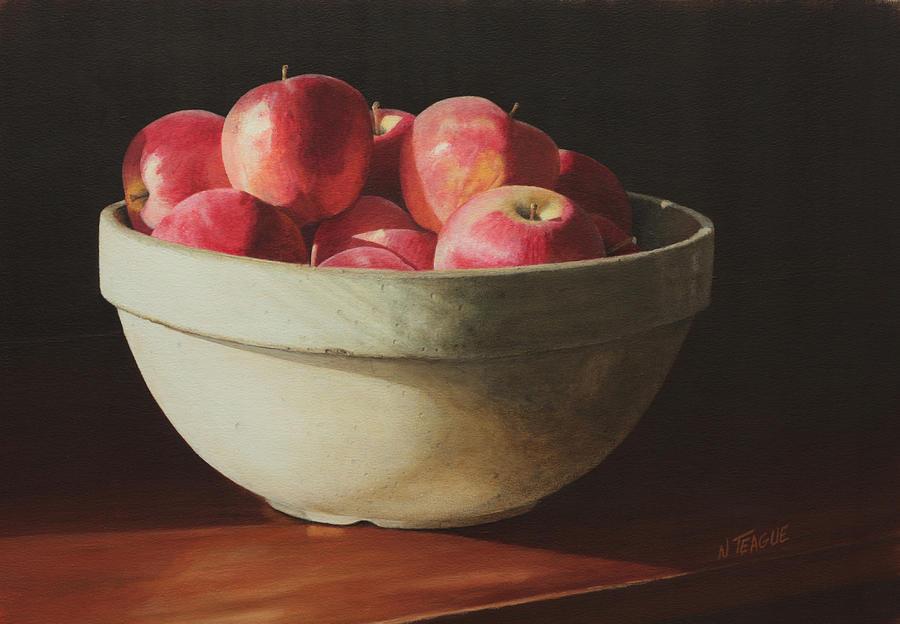 Crock Apples Painting