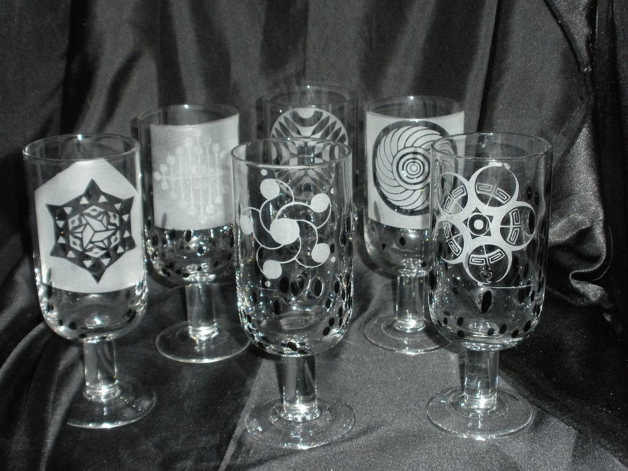 Crop Circle Stems Glass Art