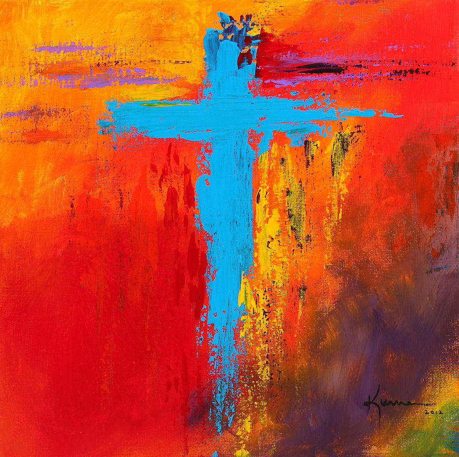 Cross 3 painting for Cross paintings on canvas